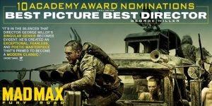 ¿6 Oscars Mad Max: Furia en la carretera? ¿WTF Hollywood?